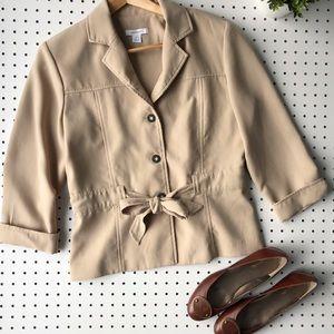 Sweet Bow DRESS BARN blazer in  khaki